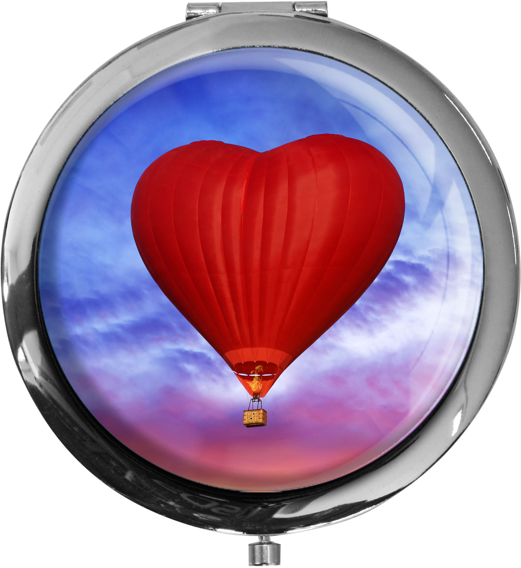 Taschenspiegel / Spiegel / Heißluftballon