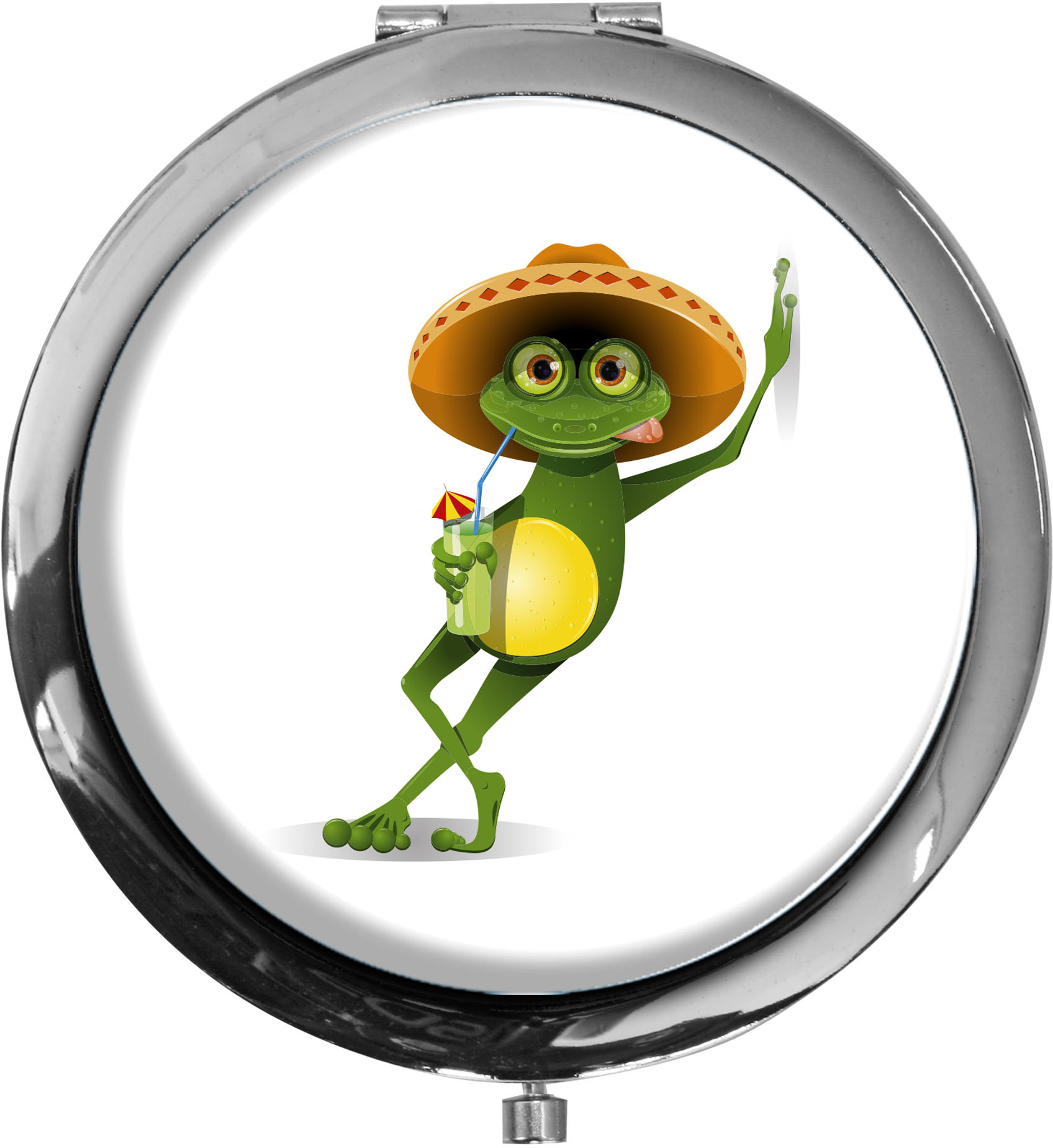 Taschenspiegel / Spiegel / Frosch