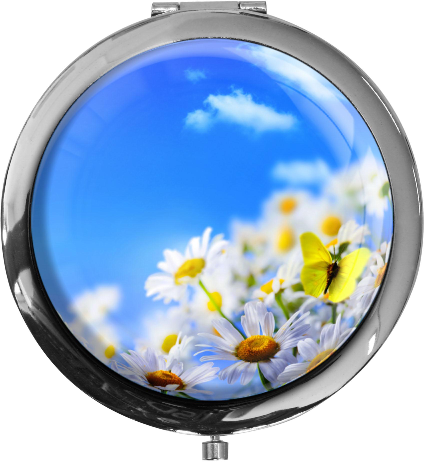 Taschenspiegel / Spiegel / Blumenwiese