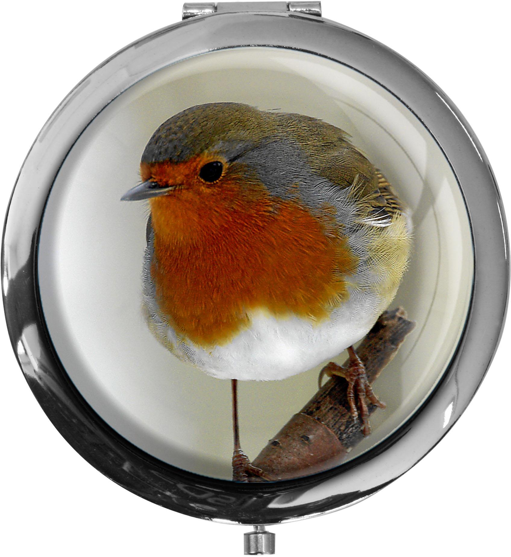 Taschenspiegel / Spiegel / Rotkehlchen