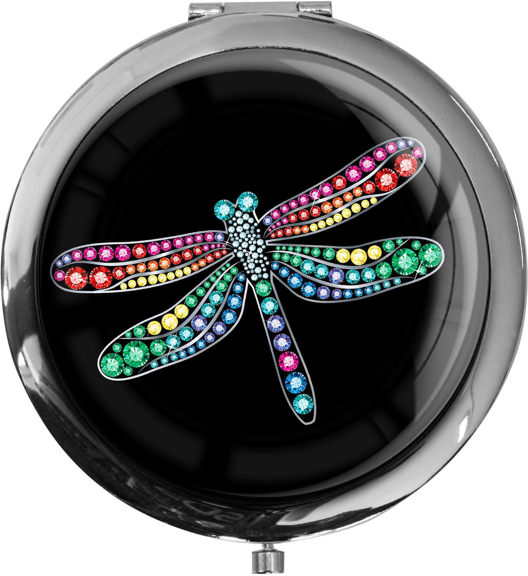 "metALUm Premium Taschenspiegel in runder Form ""Libelle"""