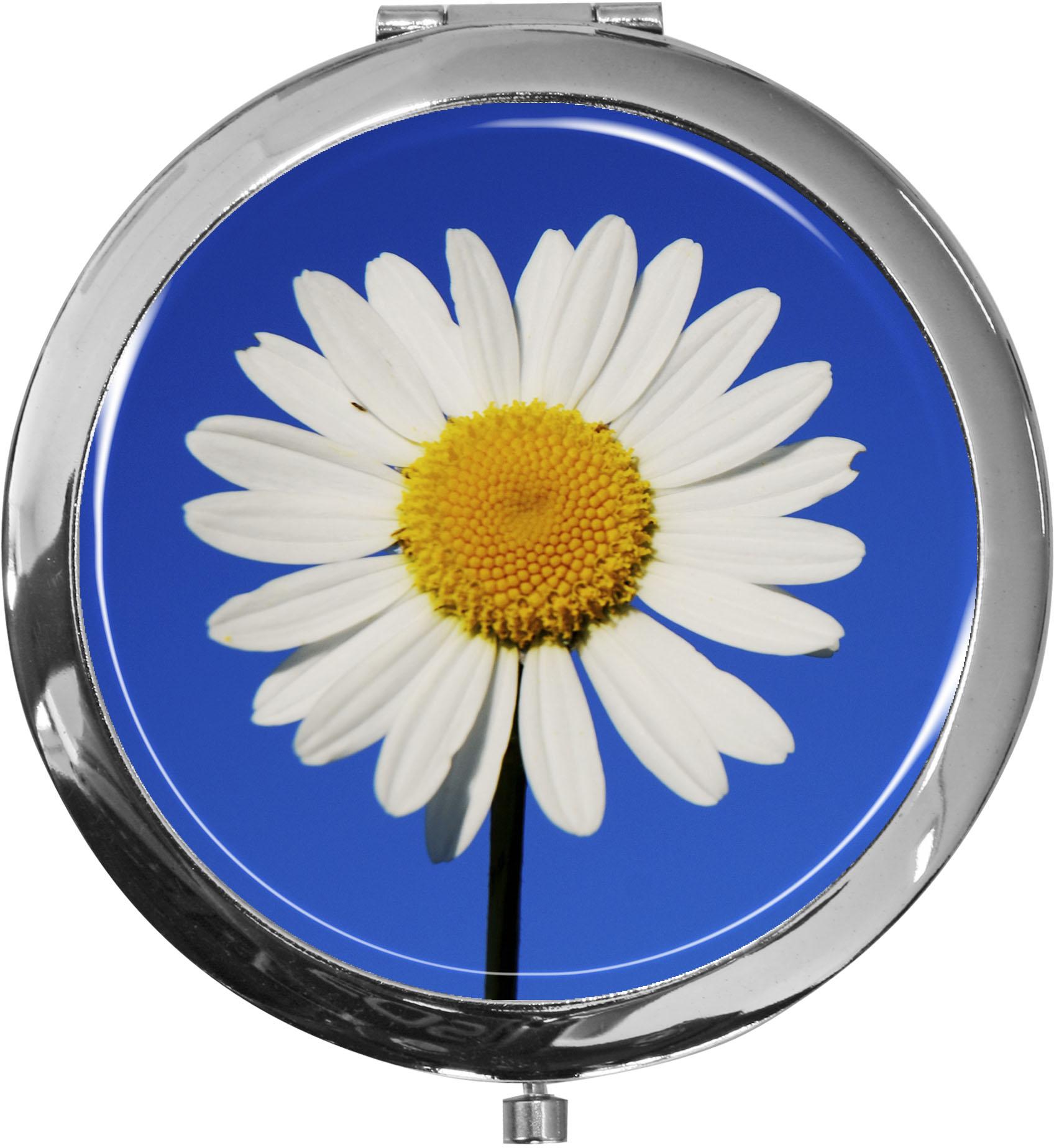 Taschenspiegel / Spiegel / Margerite / 2 fache Vergrößerung