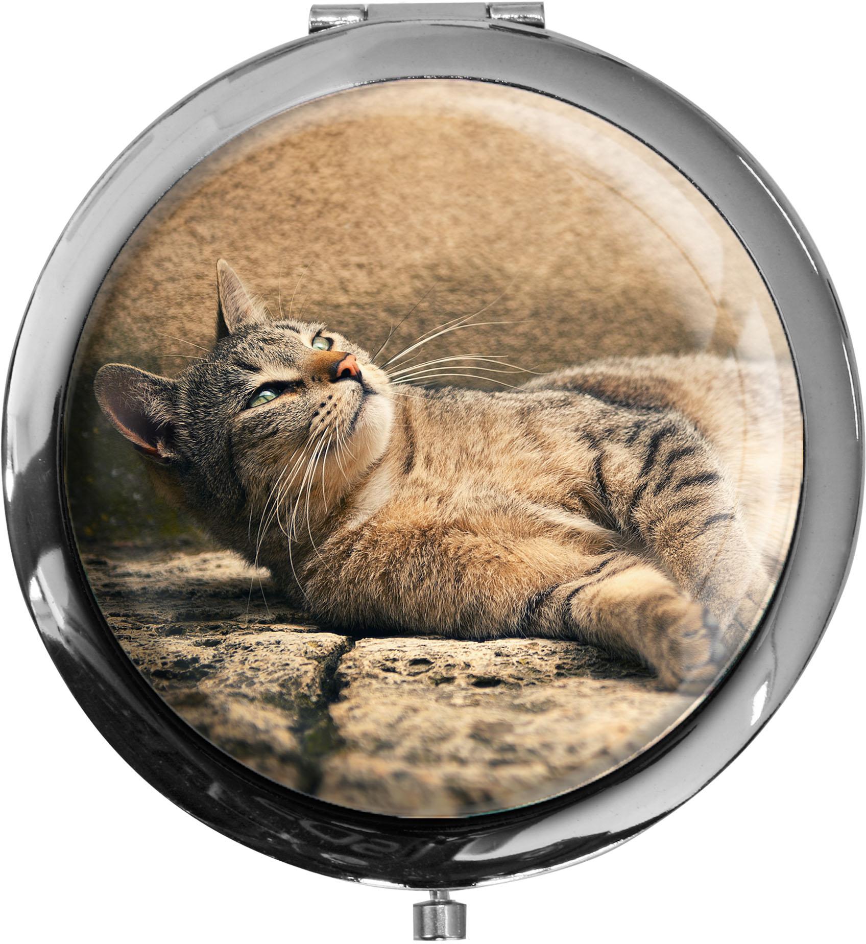 Taschenspiegel / Spiegel / Katze