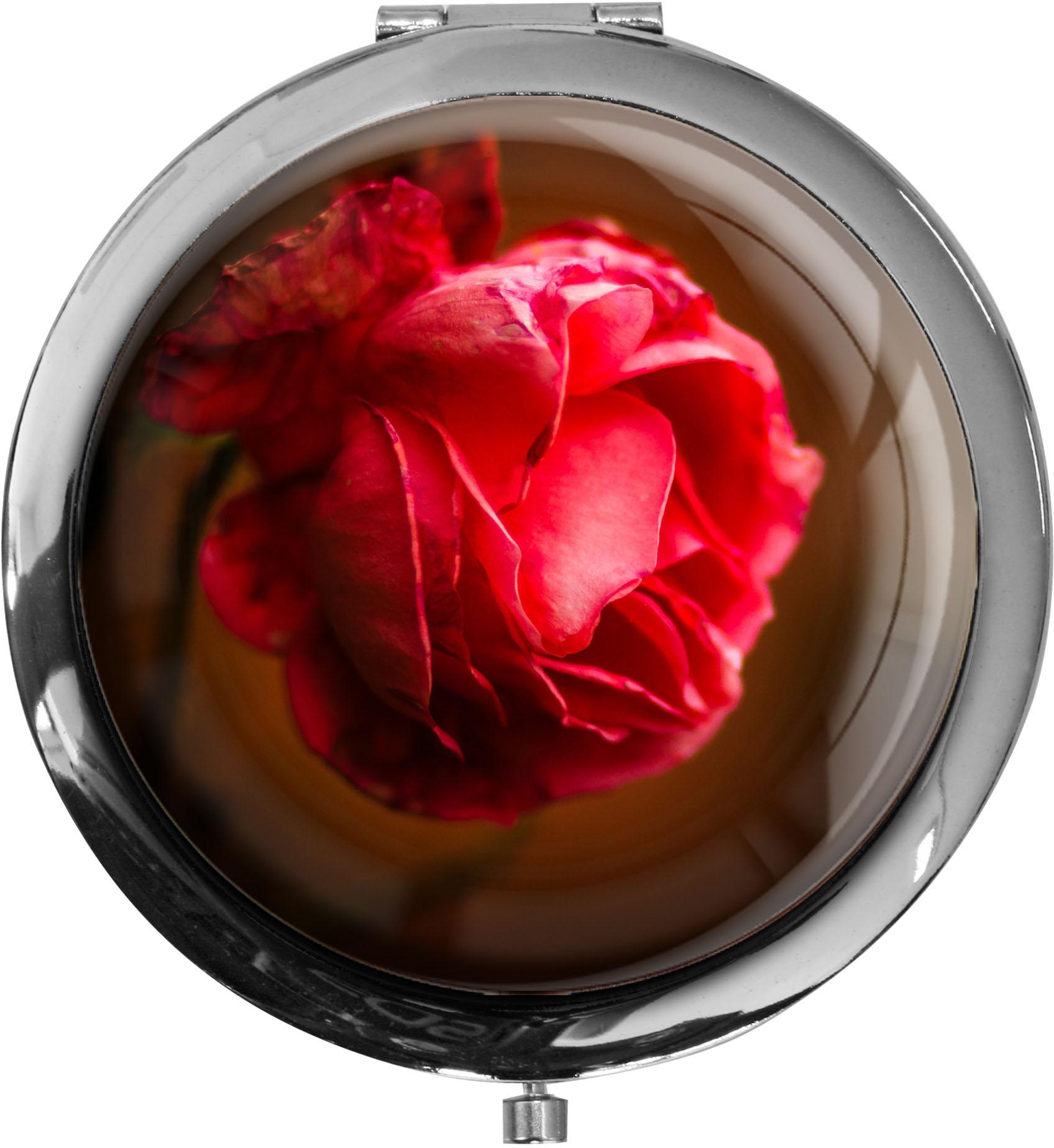 Taschenspiegel / Spiegel / Rose