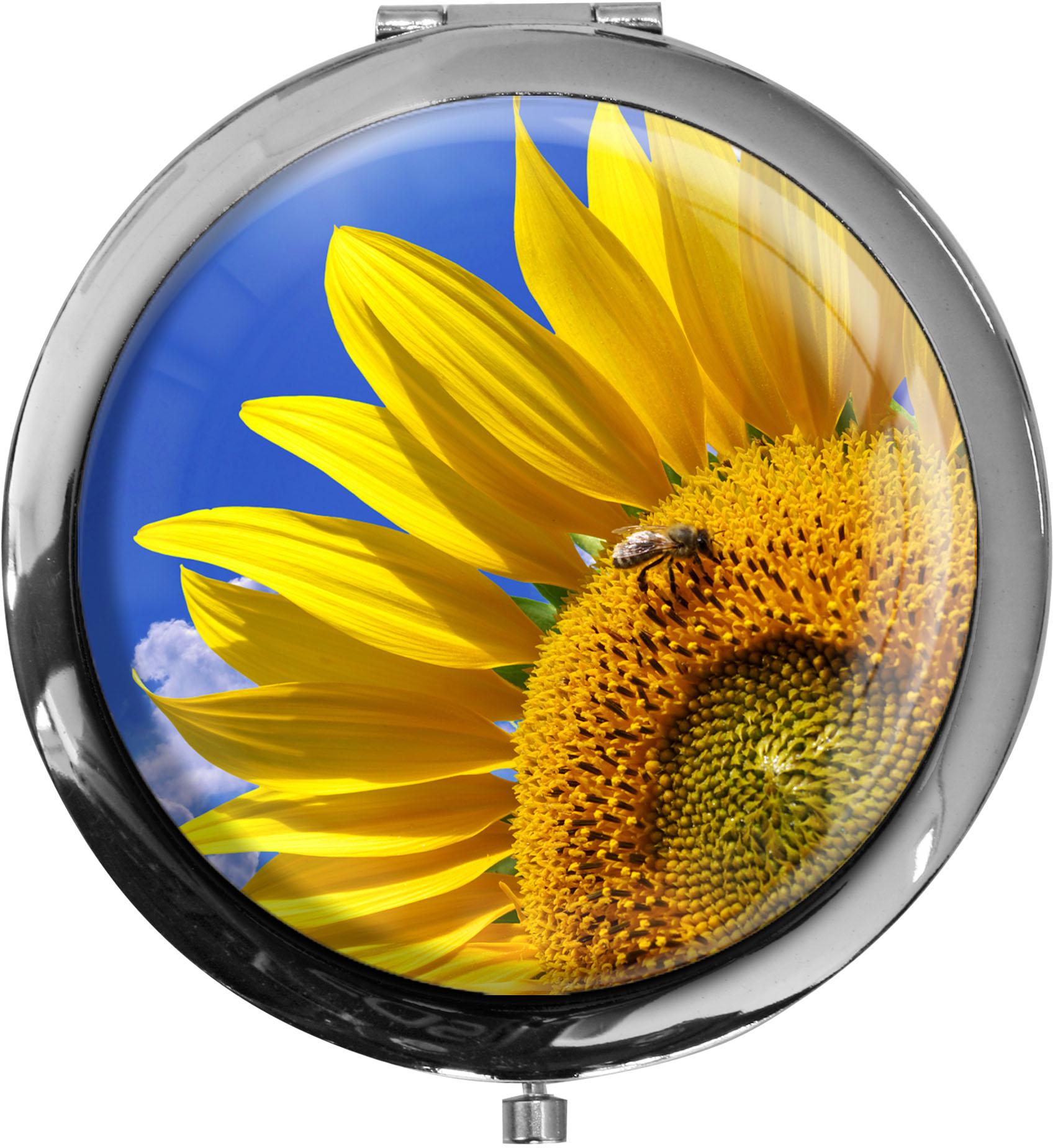Taschenspiegel / Spiegel / Sonnenblume