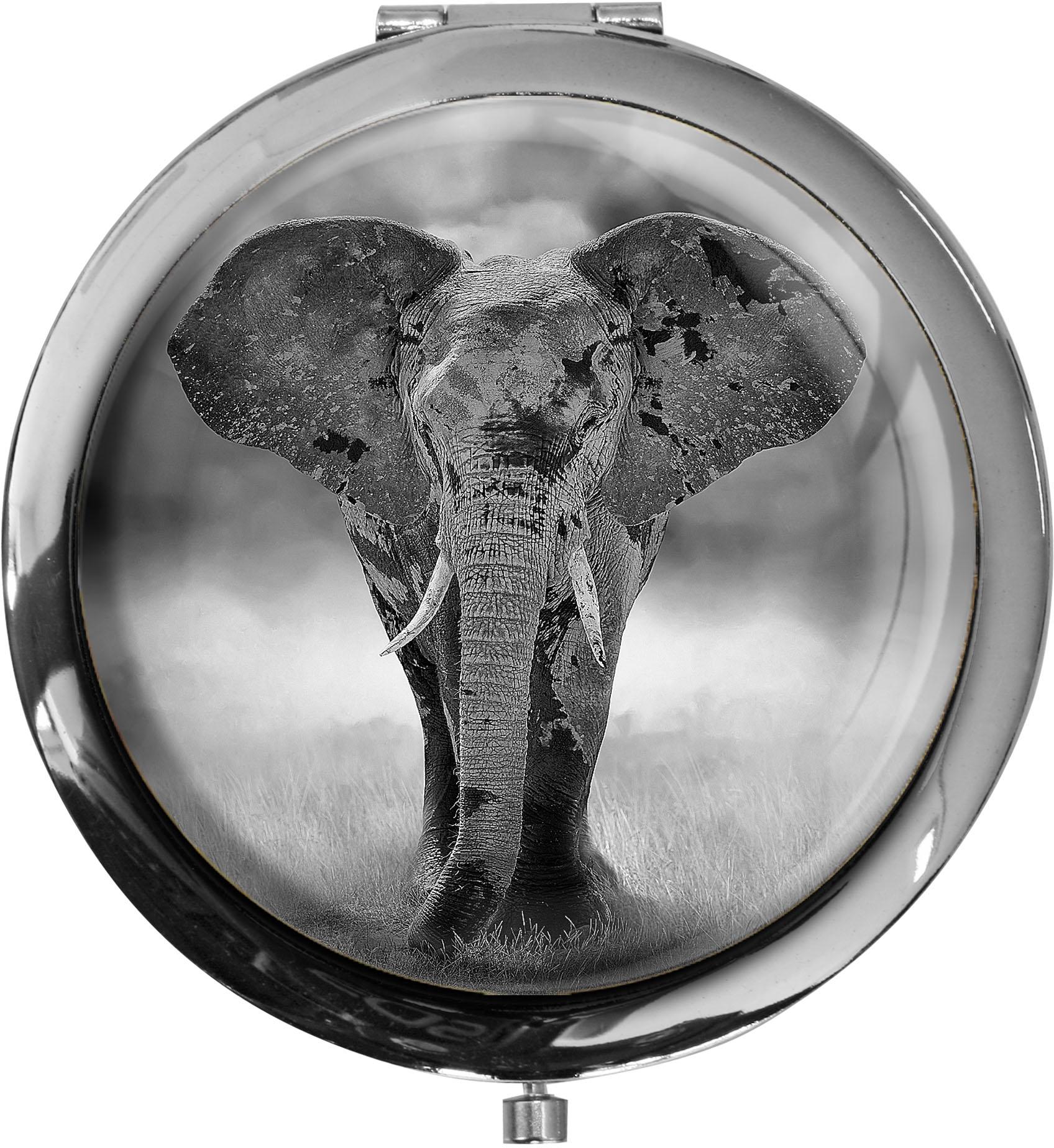 Taschenspiegel / Spiegel / Elefant / Wildtiere