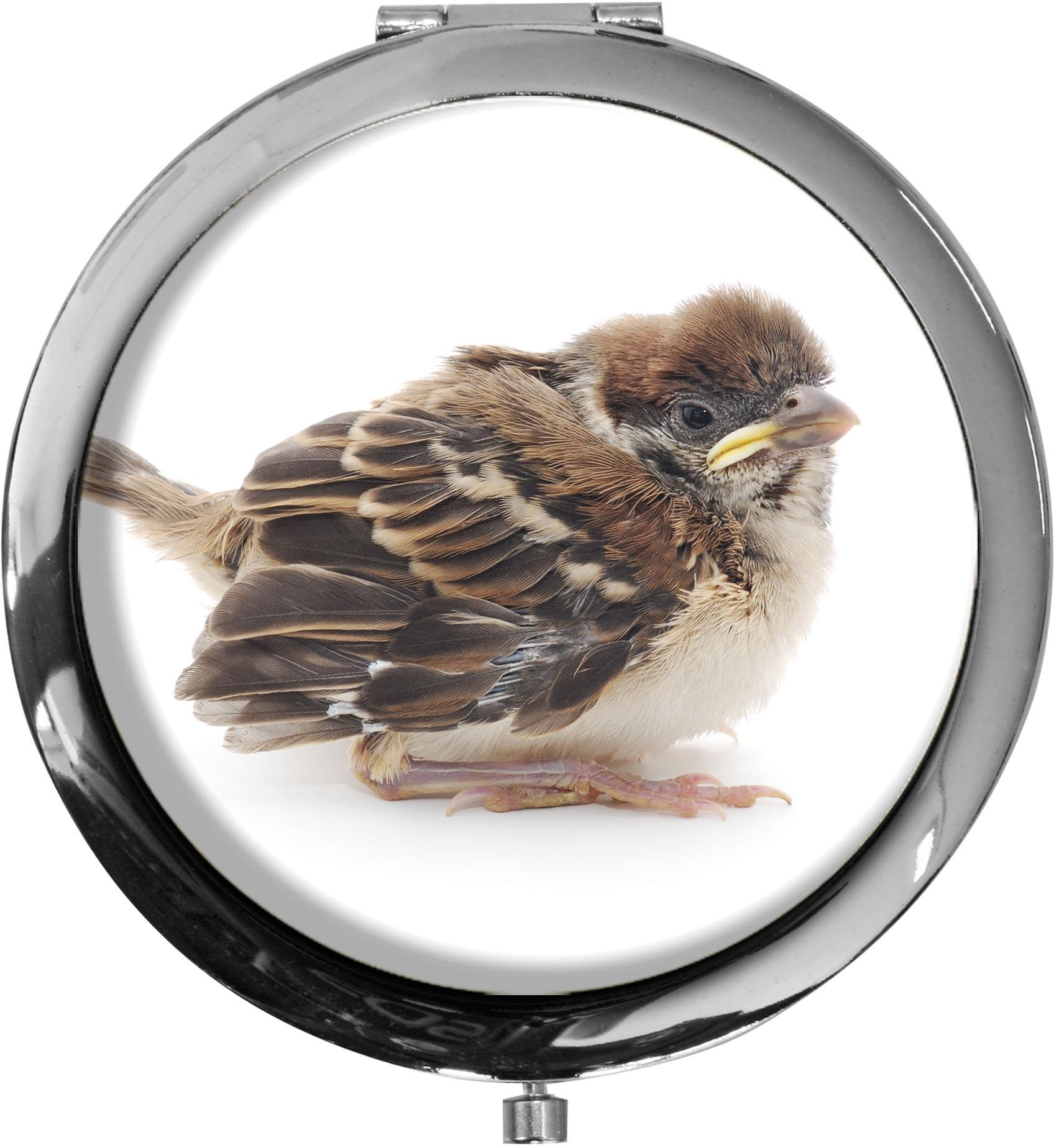 Taschenspiegel / Spiegel / Vogel