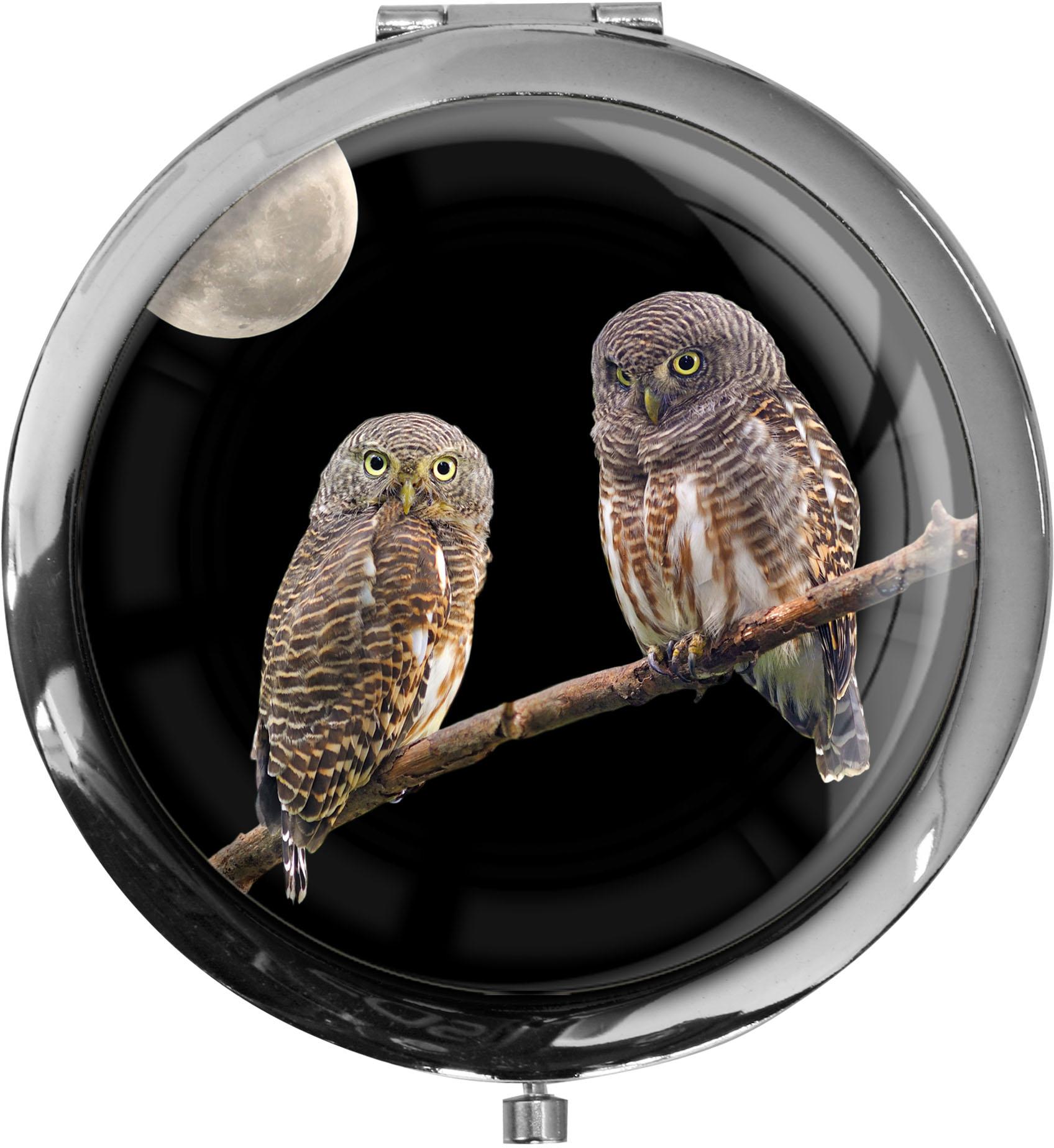 Taschenspiegel / Spiegel / Eulen / Raubtiere / Wildvögel