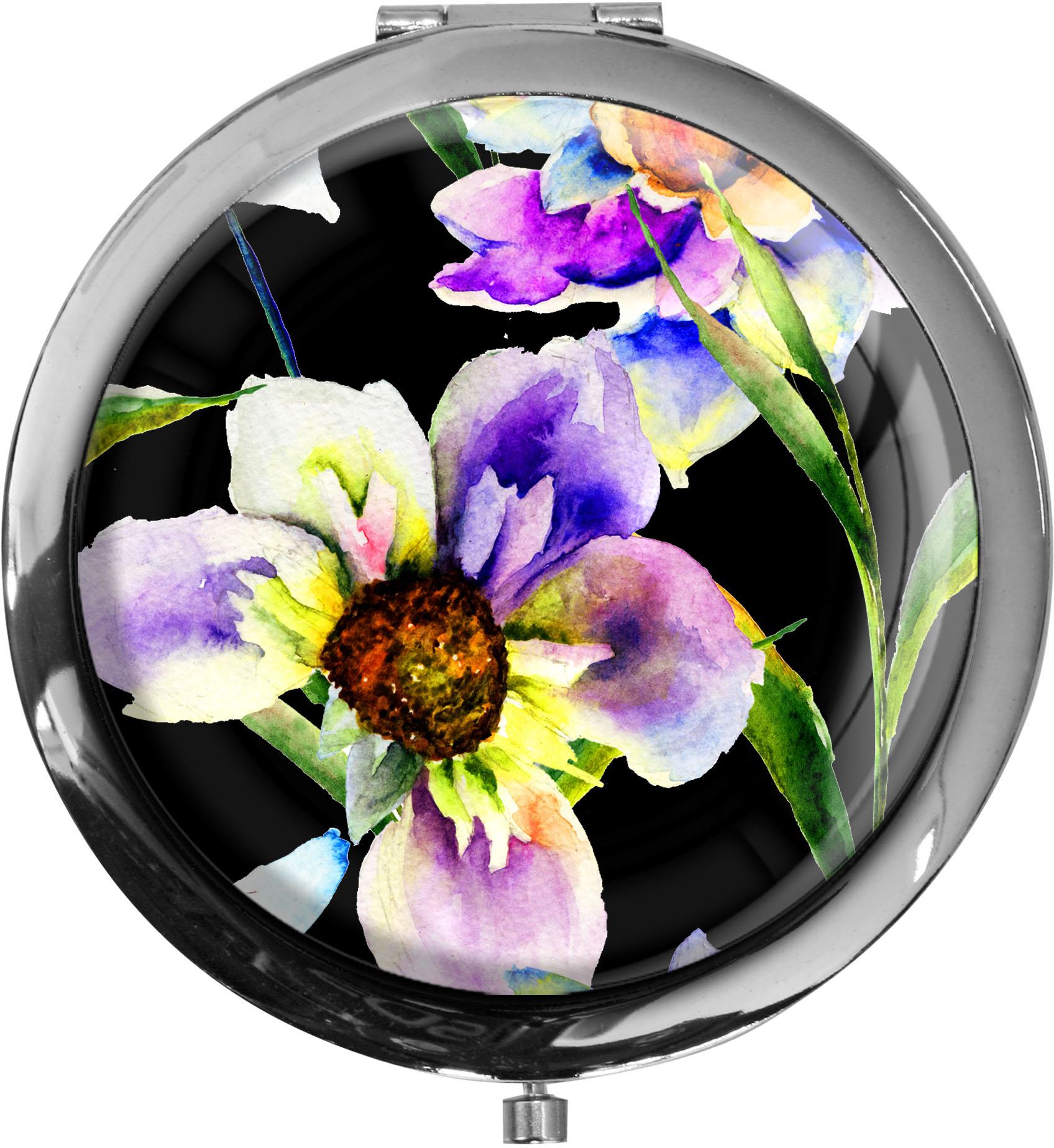 Taschenspiegel / Spiegel / Blumen