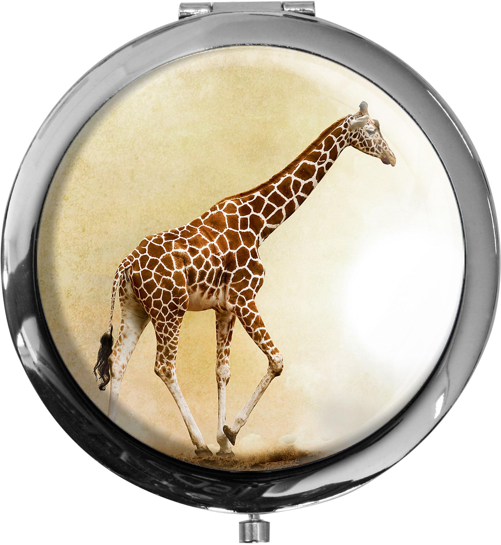 Taschenspiegel / Spiegel / Giraffe / Wildtiere