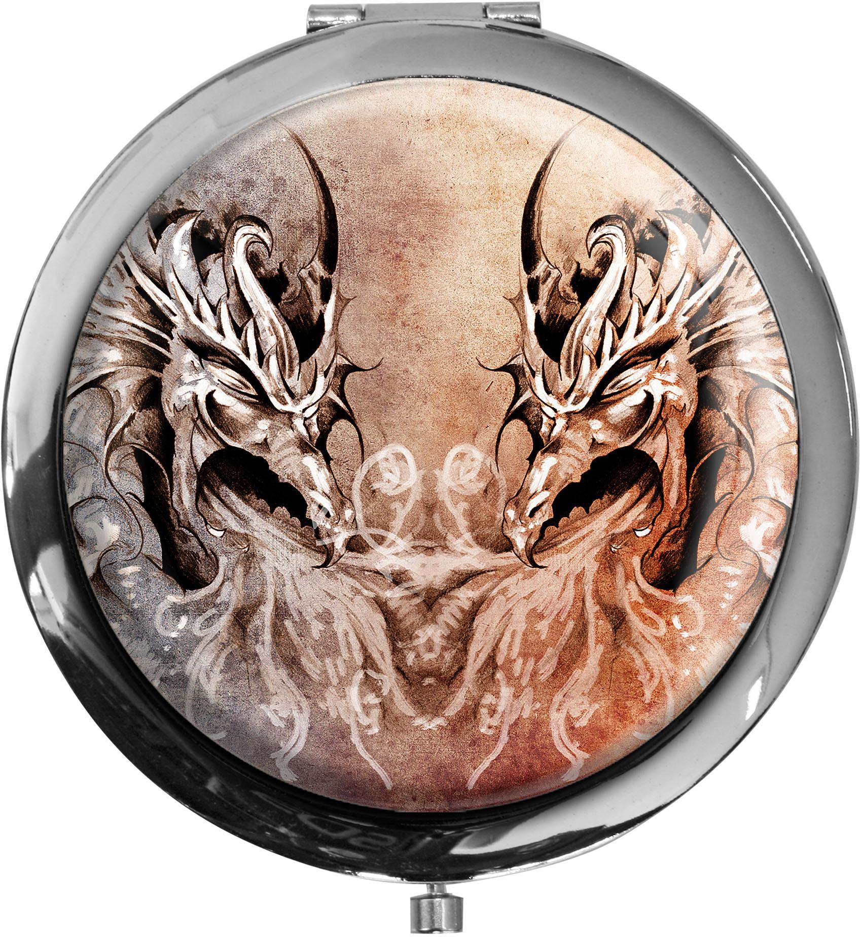 Taschenspiegel / Spiegel / Drachen / Mystik