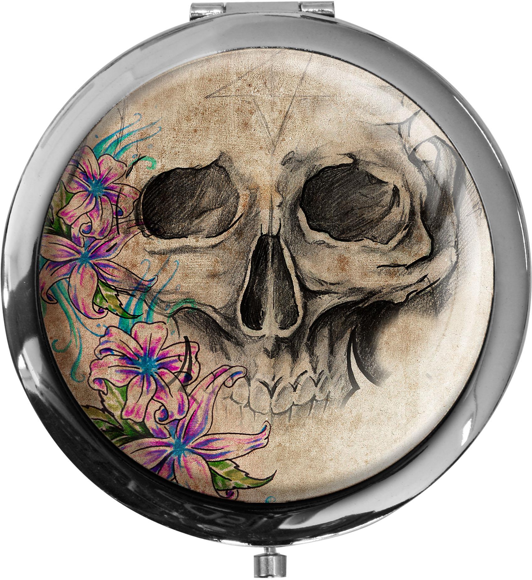 Taschenspiegel / Spiegel / Totenkopf