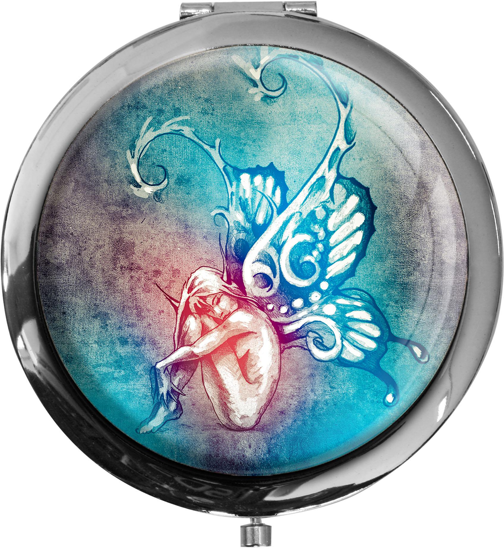 Taschenspiegel / Spiegel / Elfe / Mystik