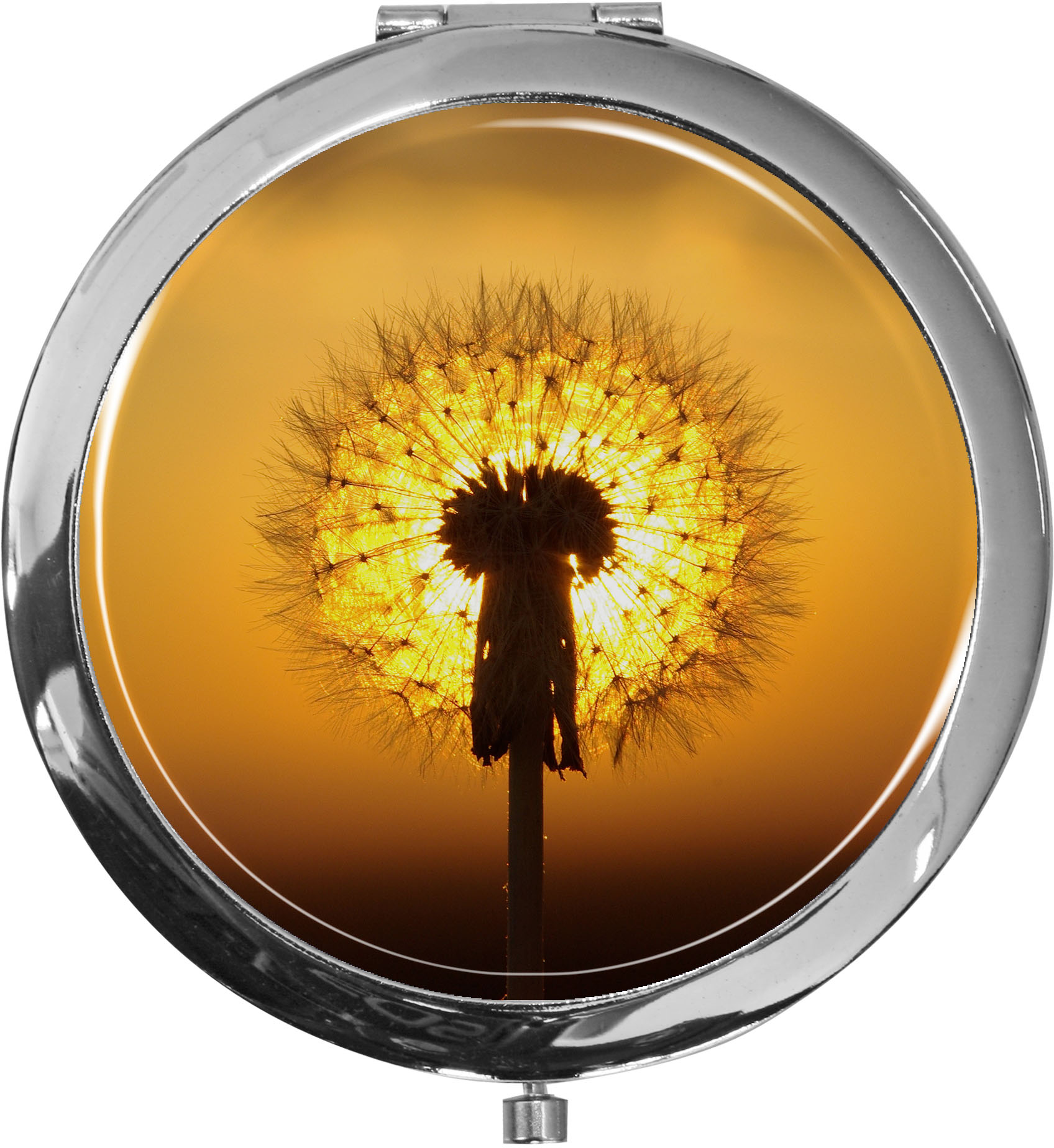 Taschenspiegel / Spiegel / Pusteblume / 2 fache Vergrößerung