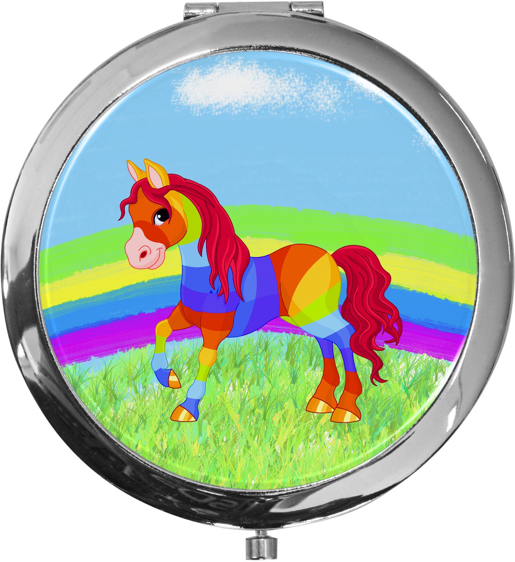 Taschenspiegel / Spiegel / Pferd / 2 fache Vergrößerung