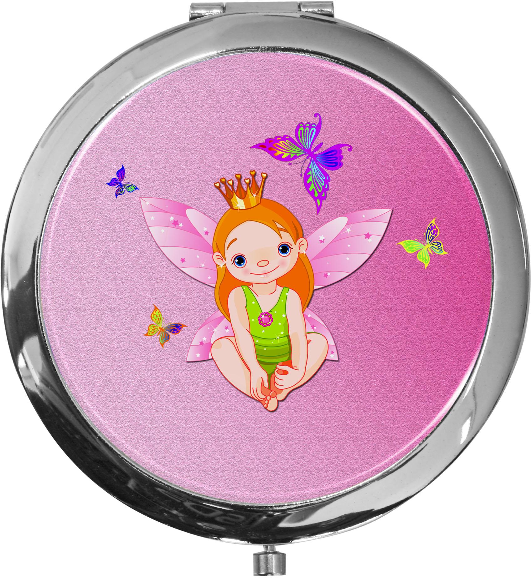 Taschenspiegel / Spiegel / Prinzessin / 2 fache Vergrößerung