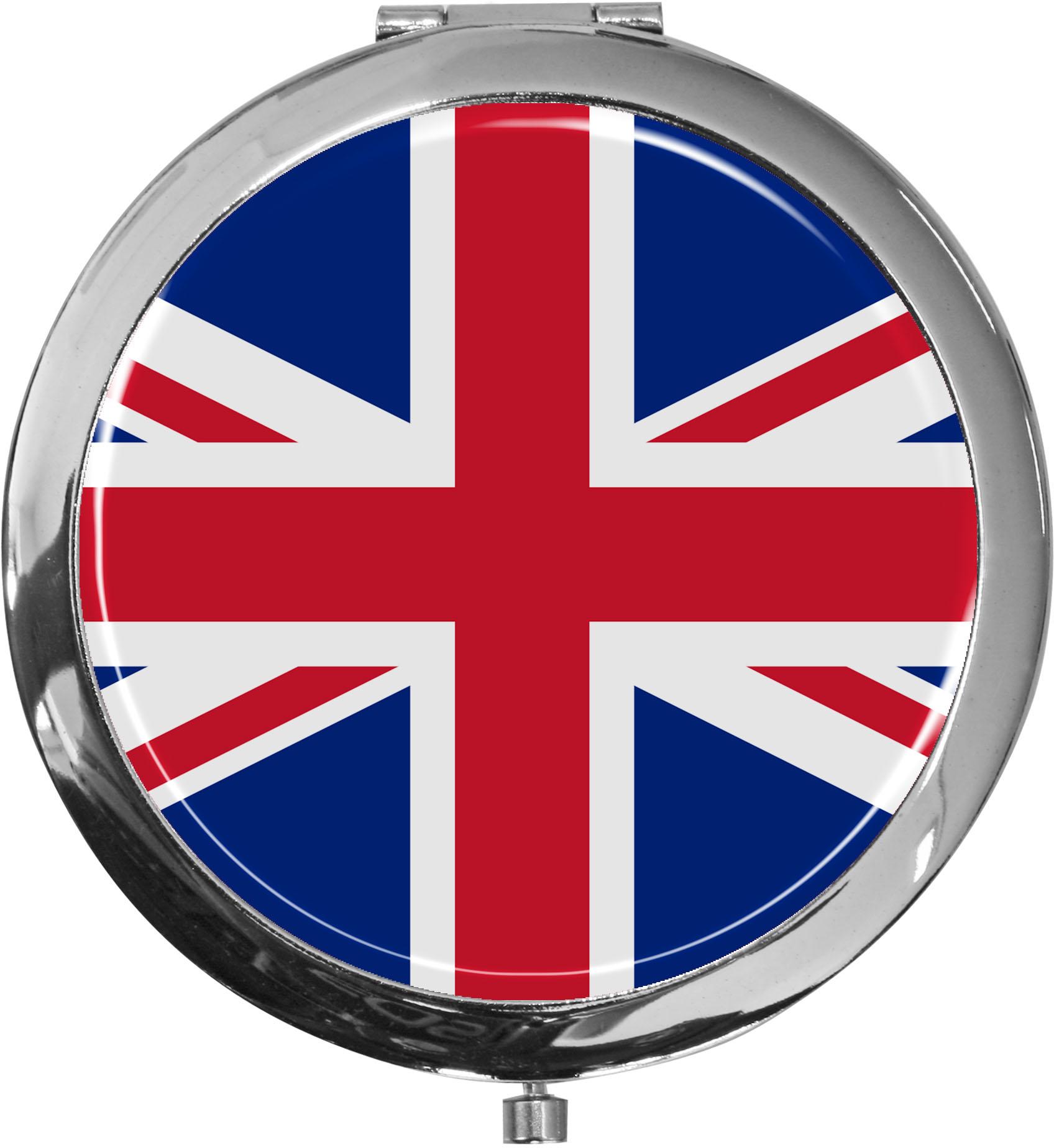 Taschenspiegel / Spiegel / Flagge Großbritannien / 2 fache Vergrößerung