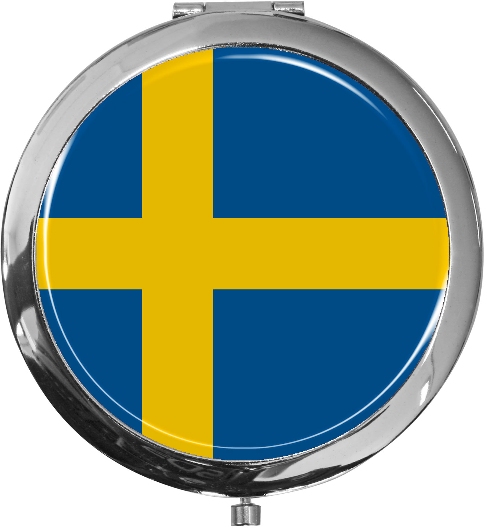 Taschenspiegel / Spiegel / Flagge Schweden / 2 fache Vergrößerung