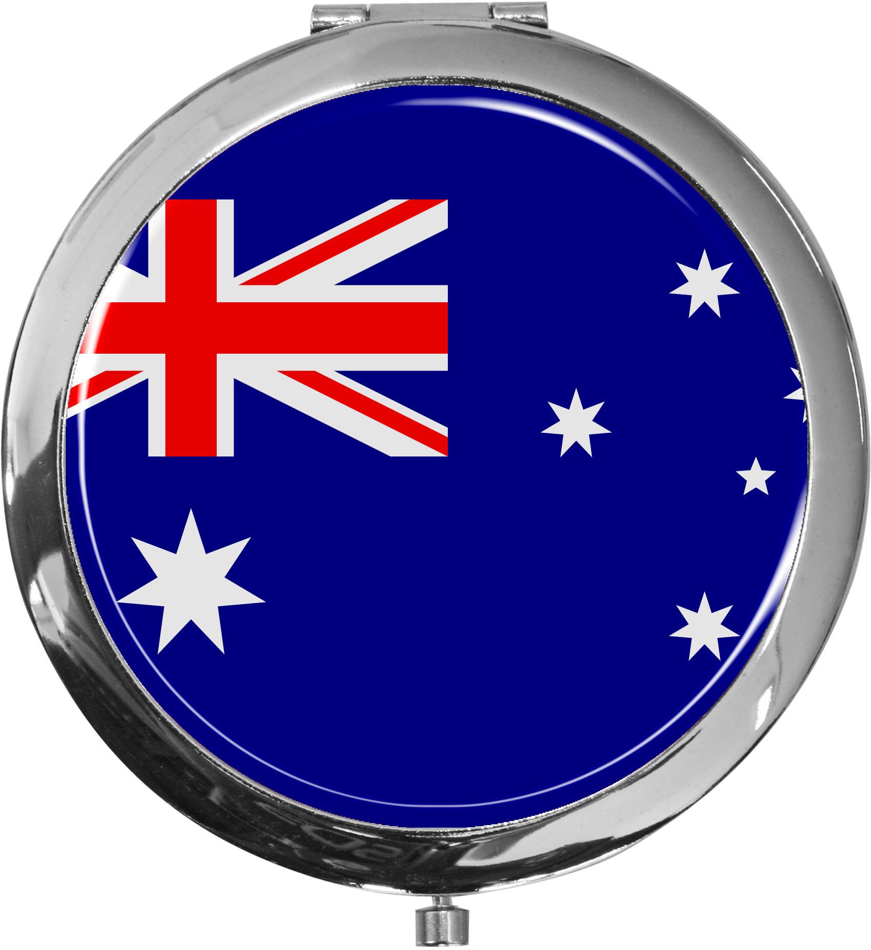 Taschenspiegel / Spiegel / Flagge Australien / 2 fache Vergrößerung