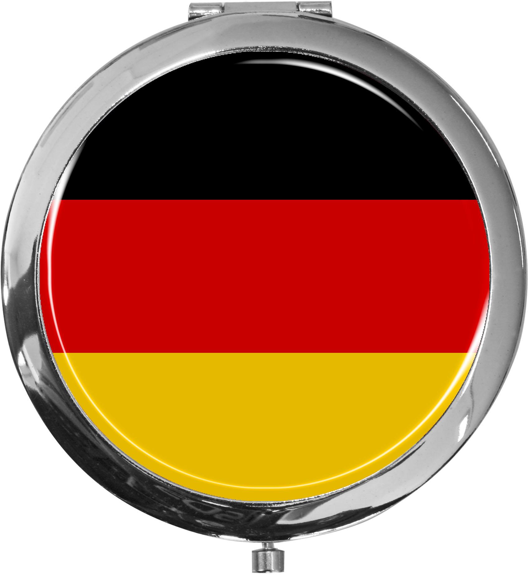 Taschenspiegel / Spiegel / Flagge Deutschland / 2 fache Vergrößerung