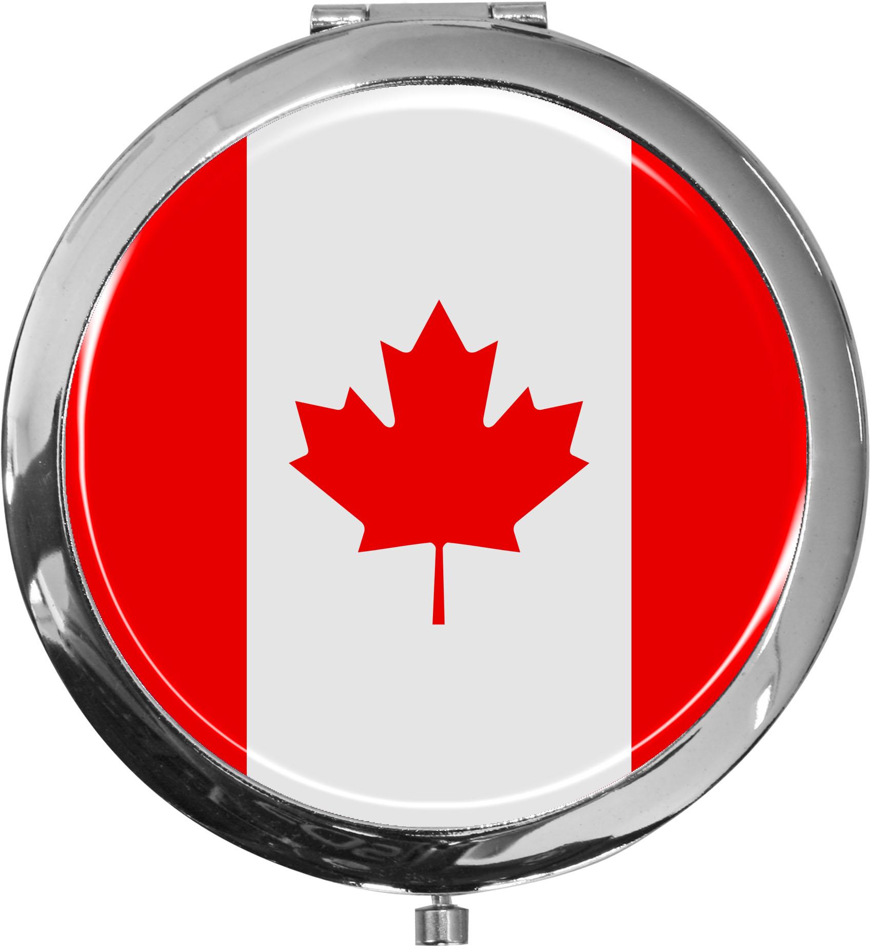 Taschenspiegel / Spiegel / Flagge Kanada / 2 fache Vergrößerung