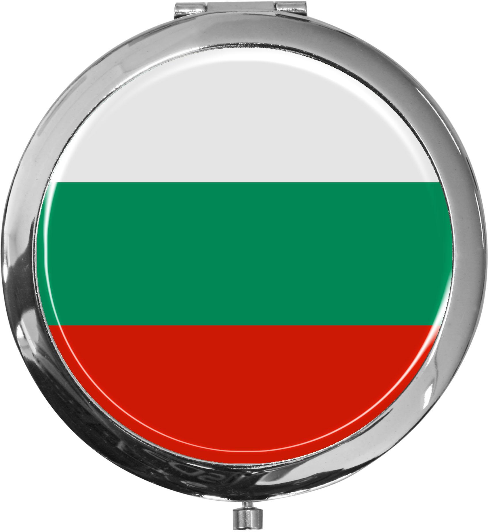 Taschenspiegel / Spiegel / Flagge Bulgarien / 2 fache Vergrößerung