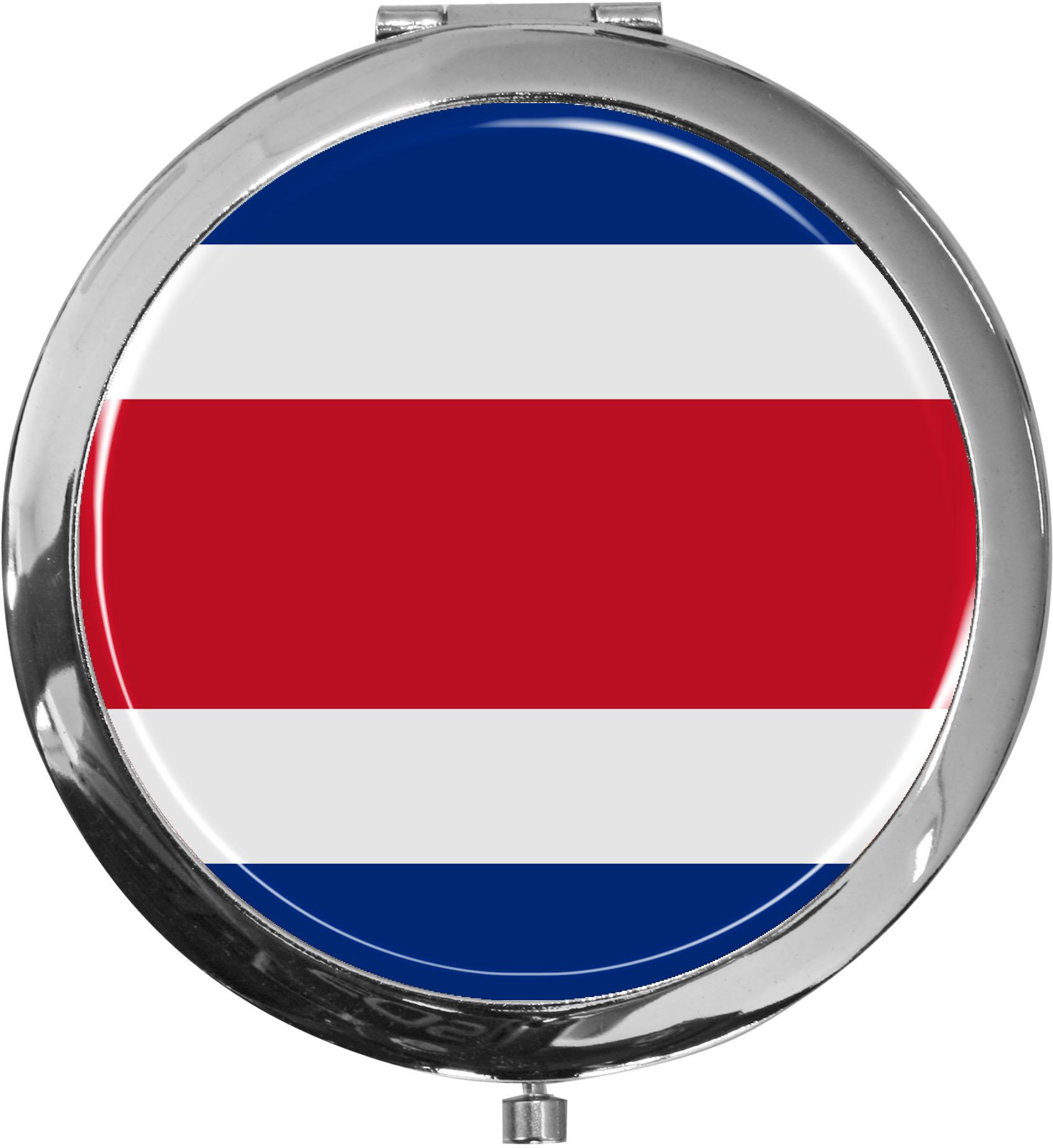 Taschenspiegel / Spiegel / Flagge Costa Rica / 2 fache Vergrößerung