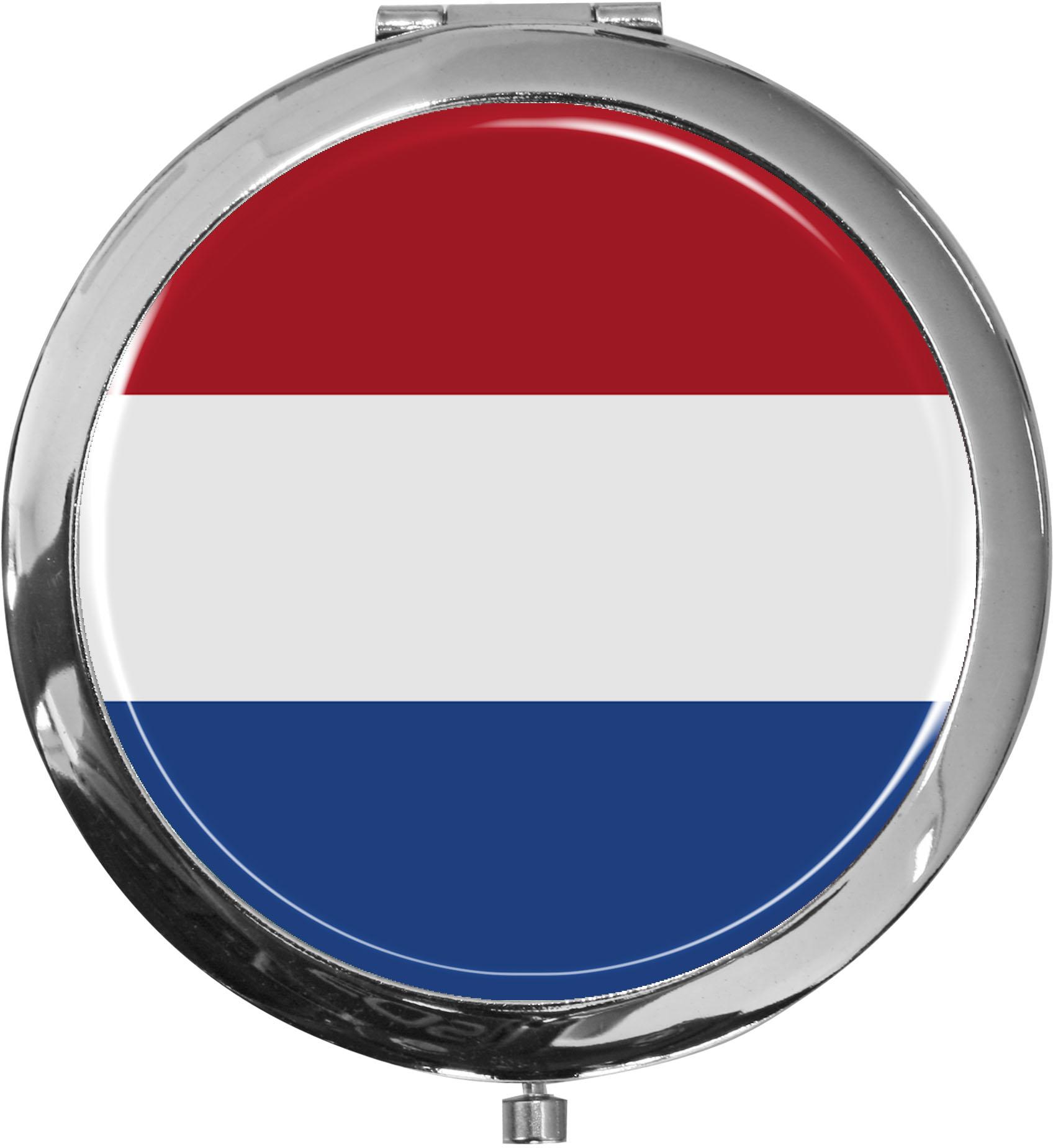 Taschenspiegel / Spiegel / Flagge Niederlande / 2 fache Vergrößerung