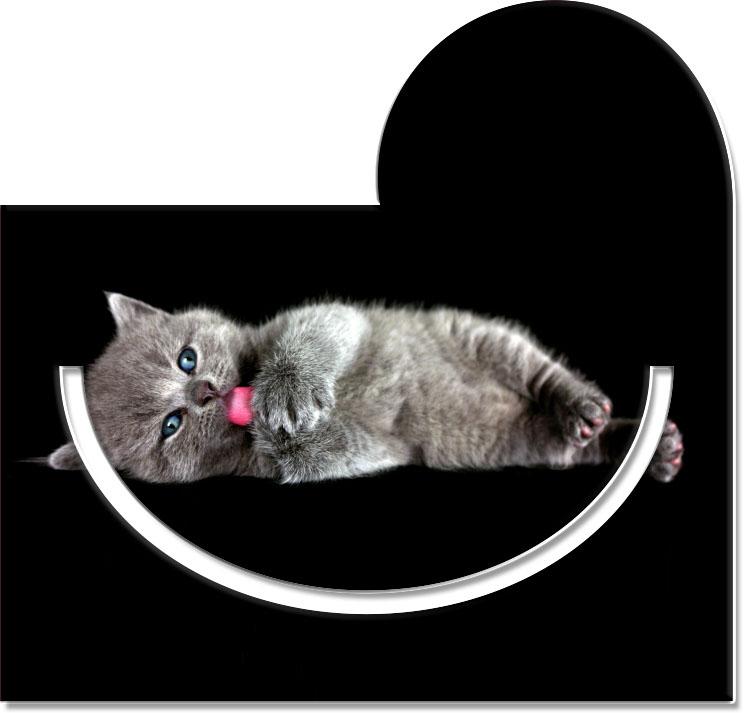 """Metall - Lesezeichen  """"Katze"""""""