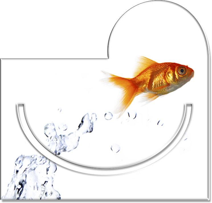 """Metall - Lesezeichen  """"Goldfisch"""""""