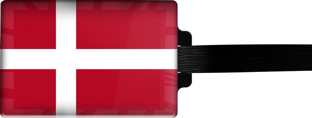 metALUm | Gepäckanhänger  verdecktes Adressfeld FLAGGE DÄNEMARK 3001001