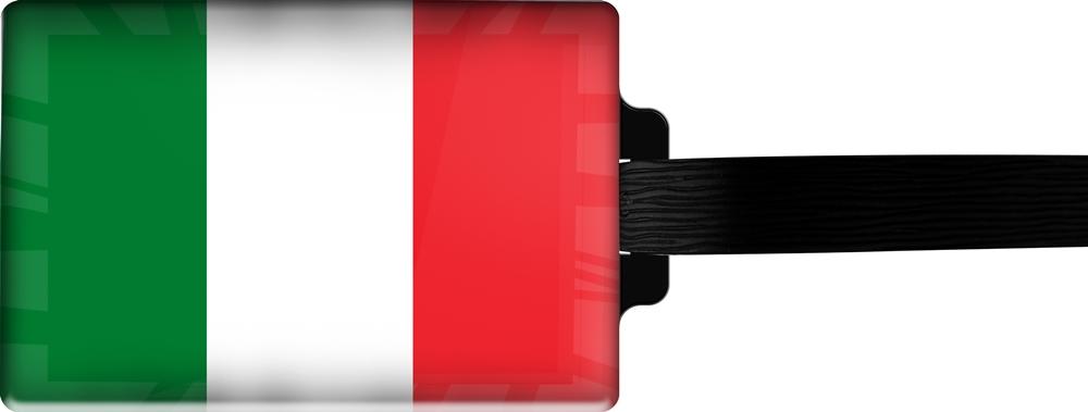 metALUm | Gepäckanhänger  verdecktes Adressfeld FLAGGE ITALIEN 3001004