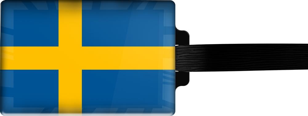 metALUm | Gepäckanhänger  verdecktes Adressfeld FLAGGE SCHWEDEN 3001006