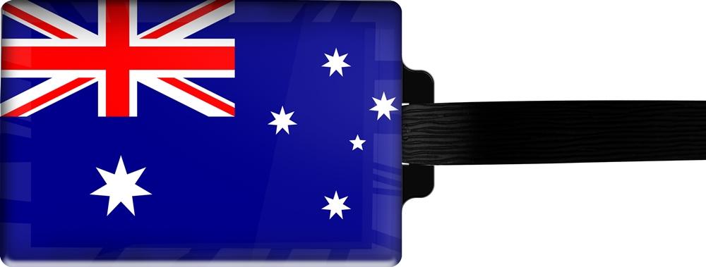 metALUm | Gepäckanhänger  verdecktes Adressfeld FLAGGE AUSTRALIEN 3001008