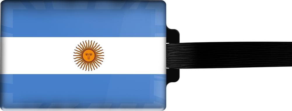metALUm | Gepäckanhänger  verdecktes Adressfeld FLAGGE ARGENTINIEN 3001012