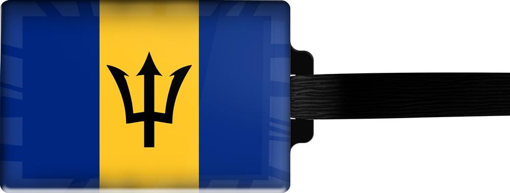 metALUm | Gepäckanhänger  verdecktes Adressfeld FLAGGE BARBADOS 3001013