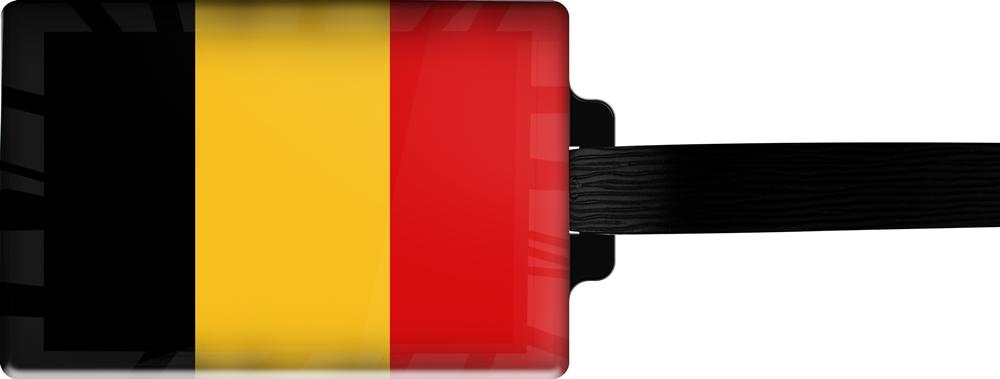 metALUm | Gepäckanhänger  verdecktes Adressfeld FLAGGE BELGIEN 3001014
