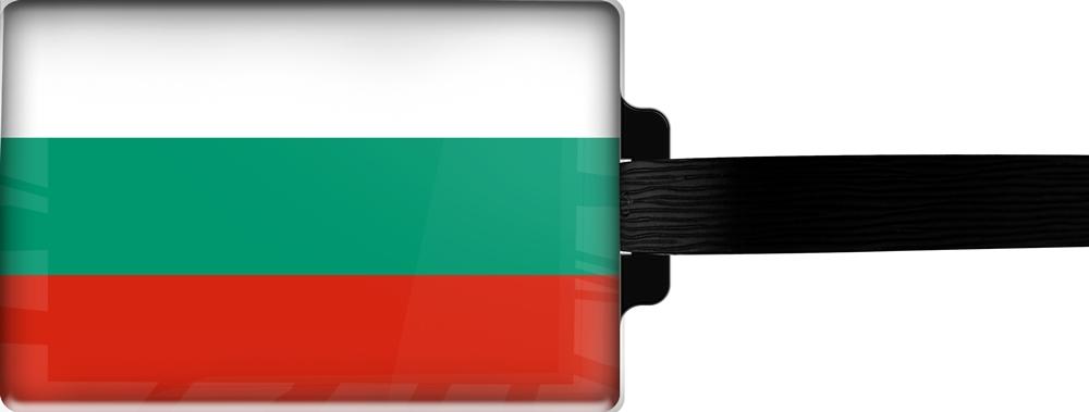 metALUm | Gepäckanhänger  verdecktes Adressfeld FLAGGE BULGARIEN 3001016