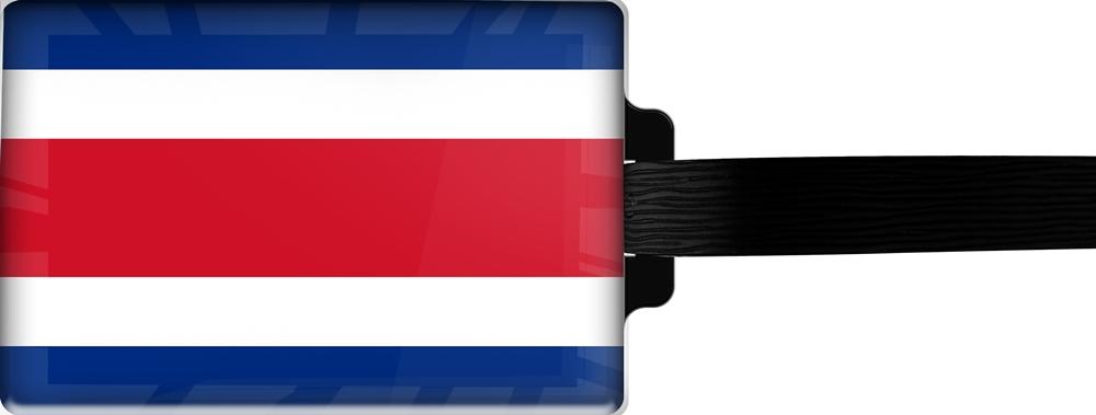 metALUm | Gepäckanhänger  verdecktes Adressfeld FLAGGE COSTA RICA 3001017