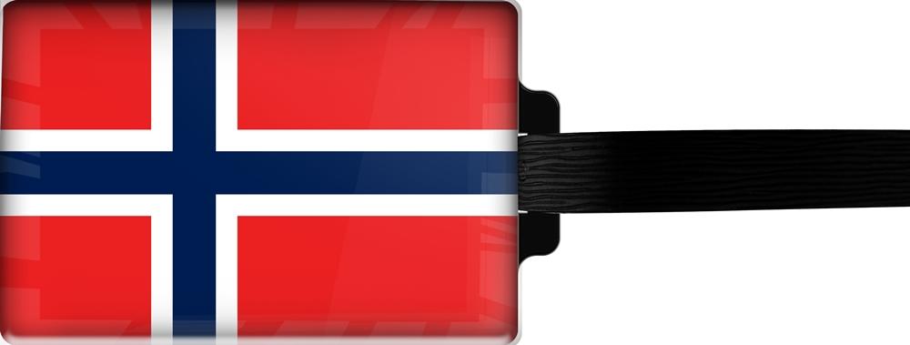 metALUm | Gepäckanhänger  verdecktes Adressfeld FLAGGE NORWEGEN 3001021