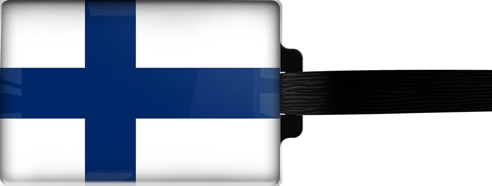 metALUm | Gepäckanhänger  verdecktes Adressfeld FLAGGE FINNLAND 3001022