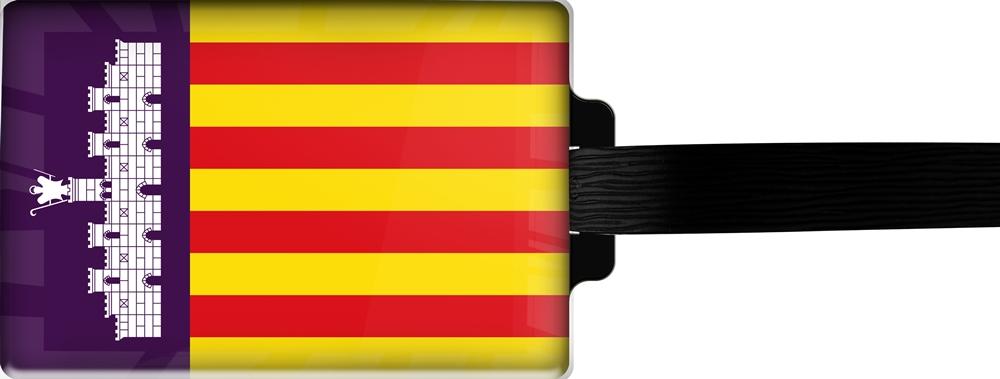 metALUm | Gepäckanhänger  verdecktes Adressfeld FLAGGE MALLORCA 3001039