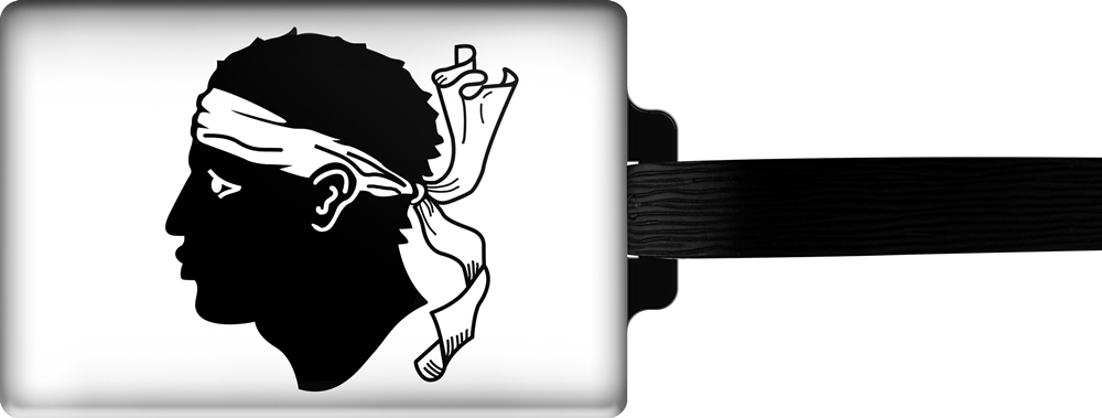 metALUm | Gepäckanhänger  verdecktes Adressfeld FLAGGE KORSIKA 3001045