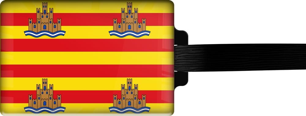 metALUm | Gepäckanhänger  verdecktes Adressfeld FLAGGE IBIZA 3001046