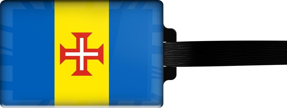 metALUm | Gepäckanhänger  verdecktes Adressfeld FLAGGE MADEIRA 3001049
