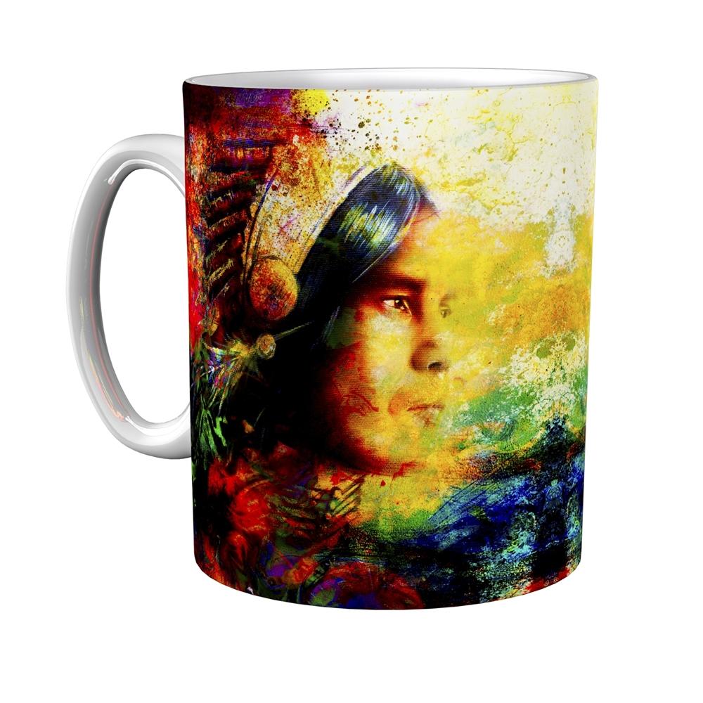 Kaffeetasse / Kaffeebecher / Indianer / Geschenktasse