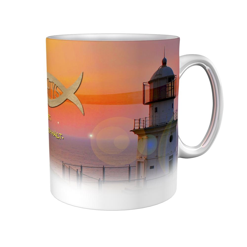 Kaffeetasse / Kaffeebecher / Leuchtturm / Firmung