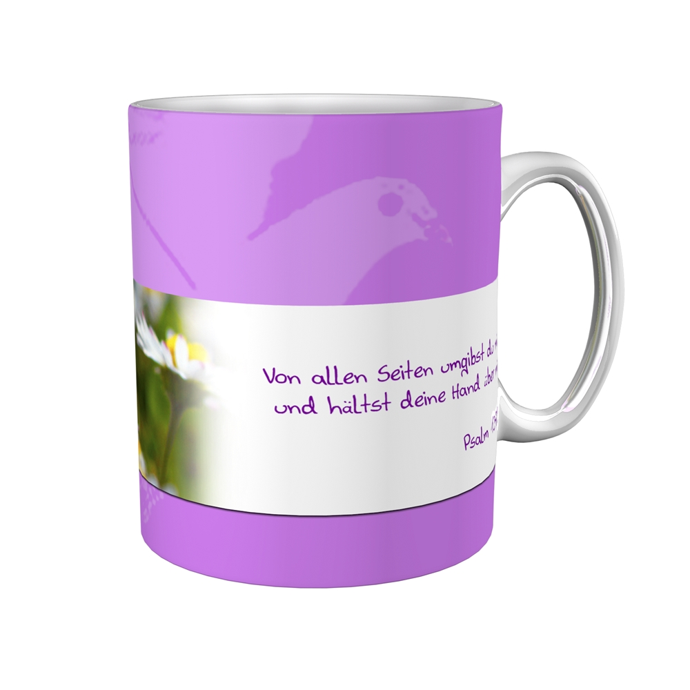 Kaffeetasse / Kaffeebecher / Margeriten / Firmung