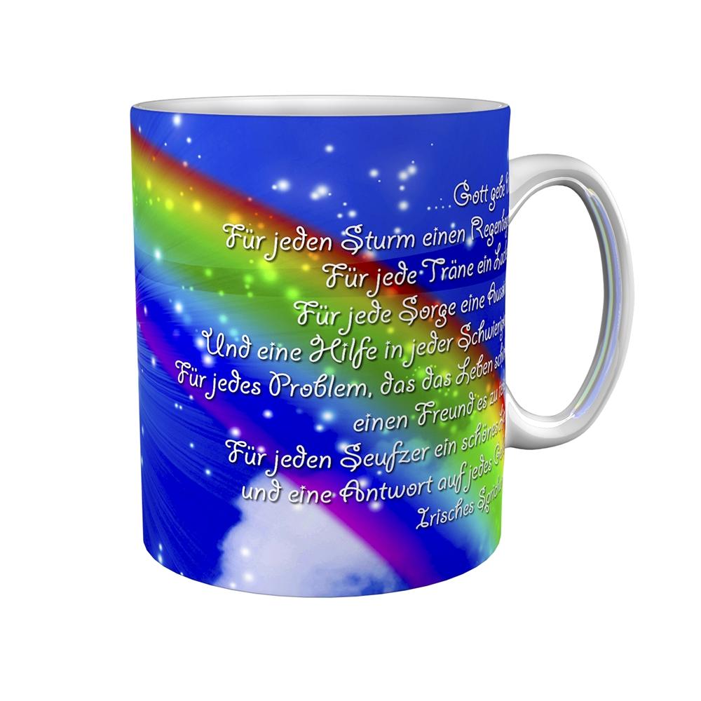 Kaffeetasse / Kaffeebecher / Regenbogen / Kommunion