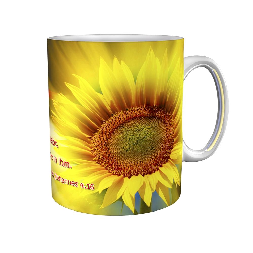 Kaffeetasse / Kaffeebecher / Sonnenblume / Kommunion